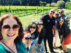 With my group enjoying the magnificent Mont Rouge Estate.