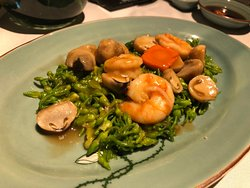 stir fried veggies and Shrimps