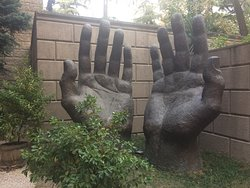Sculpture in the garden.