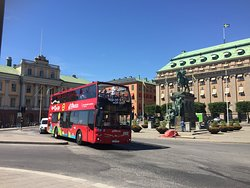 "Bus station #3 ""Gustav Adolfs Torg"". This square is the most central point of Stockholm where you can find emblematic buildings full of history like the beautiful Royal Opera House, The Castle of Sophia Albertina and magnificent views of the Royal Palace and the Parliament.  Follow us on Facebook @RedBuses"