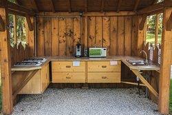 espace cuisine pour les Tipis, Pods, etc....