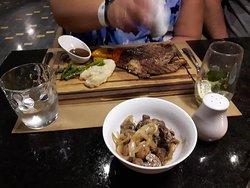 Amazing cowboy steaks at El Dorado