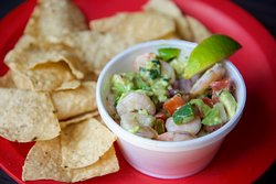"""Cevichito. With shrimp and cucumber, original recipe from that place in """"La Viga"""""""