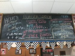 extra menu items (burger menu is on the counter)