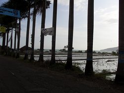 The drive along the beachfront highway at Pelabuhan Ratu.