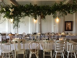 Stylish wedding set up.