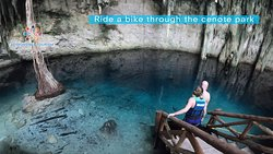 What it`s amazing about this experience is that the three cenotes are close to each, here is where the fun part is... Get on a bike and lead the road!