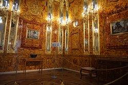 Tsarskoe Selo Царское Село - Sala de Âmbar -  A grande atração do Palácio de Catarina