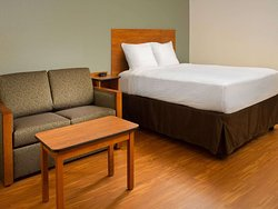WoodSpring Suites Fayetteville Univ. of Arkansas Extended Stay Hotel Suite with Sleeper Sofa