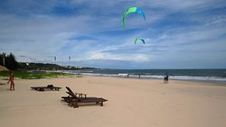 Probably the best beach in Mui Ne - both for relaxing and learn how to kitesurf.