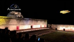 In the Lights and sound show at Uxmal you will learn about the place history in a creative and funny way