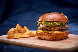 Exotic Burger Did you know that guacamole and mango go hand in hand in with beef and shrimps? You must try this mix. Guaranteed you will love it!
