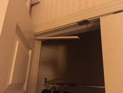 Broken trim in the closet, door wouldn't close