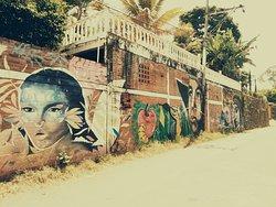 Uno de los numerosos murales del corregimiento de la Buitrera, sector  Cepeda.