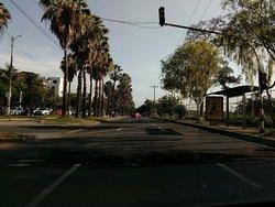 Avenida Pasoancho frente a la Universidad del Valle.