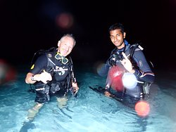 Rahill and I after the night dive