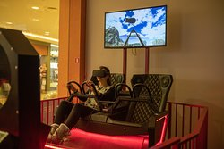 Virtual reality ride in one of 15 different scenarios