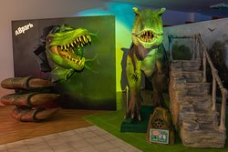 3D dinosaur photo wall and Dinosaur attraction
