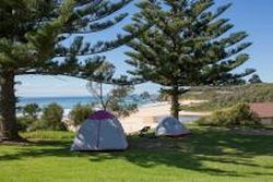Amazing views and lush green grass create the perfect camp site