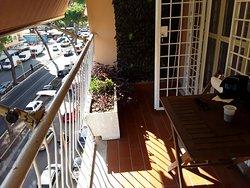 Balcony facing the street (Via Gregorio Vll)