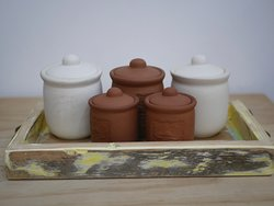 Handmade pottery - Salt from Mauritius