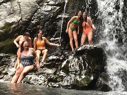 Waterfall and beach ride