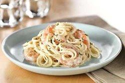 Creamy shrimp spaghetti