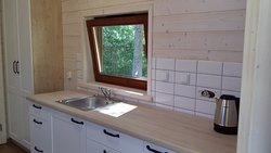 Domki drewniane 4-osobowe - aneks kuchenny