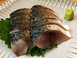 生鯖の炙り刺身