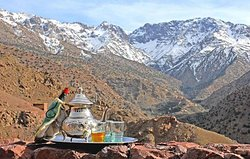 Mint tea in the Atlas mountains trip