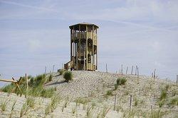 Kinderen kunnen zich uitleven op het Speelduin waarop diverse speeltoestellen te vinden zijn waaronder deze klimtoren van waaruit je een mooi uitzicht hebt over de omgeving