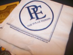 Napkins that say Polar Express that they give you.