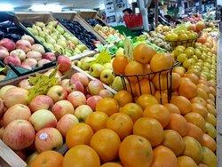 Bancas de frutas e verduras