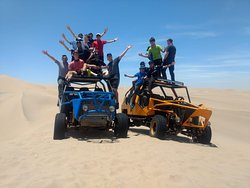 The only natural oasis in America is in Huacachina also the largest dunes.