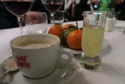 A little espresso and limoncello to cap off the dinner.