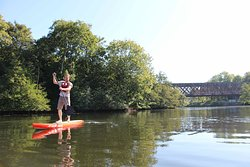 Paddle près de la voie verte de Louvigny