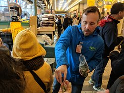 Jake handing out free samples for tasting :)