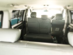 A rear view from inside. The seats shown can hold two (2) persons.
