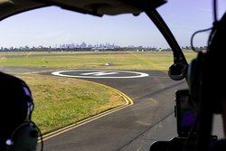 A view of Melbourne from the pilot's cabin.