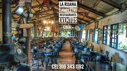 LA RUANA CAMPESTRE Restaurante Parrilla - Cocina Típica - Eventos Km 2 vía Chía - Cota. Sabana de Bogotá.  Cotizaciones y Reservas: (Indicar: Nombre de Empresa, Tel, Cel, # de Invitados, Fecha y hora del evento) Whatsapp: 3103431192 Correo: LaRuanaCampestre@yahoo.es  Página Web: http://www.laruanacampestre.wixsite.com/chia  Restaurante Campestre. Eventos Empresariales & Familiares. Despedidas de Fin de Año.  Amplia zona verde. Campo de fútbol.  Sopas, Carnes al carbón, Pescados, Platos Típicos.