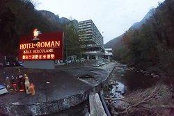 Here is Roman Hotel, near the Cerna River