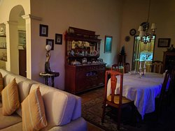 The lovely dining area as seen from the living room.