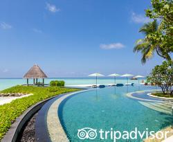 The Adult Serenity Pool at the Four Seasons Resort Maldives at Kuda Huraa