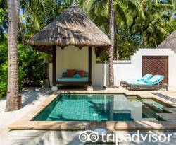 The Beach Pavilion with Pool at the Four Seasons Resort Maldives at Kuda Huraa
