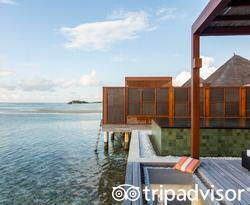 The Water Villa with Pool at the Four Seasons Resort Maldives at Kuda Huraa
