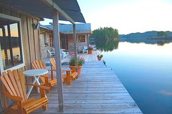 Sit back in our Adirondack chairs and enjoy the amazing scenery of Hakai Pass from out front of your cabin.