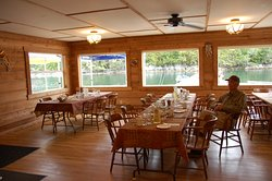 Our dining room does also serve as a meeting for larger groups such as corporate or large families. We comfortable seat 30 in our dining room.