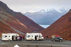 Vista al Lago Fagnano en Tierra del Fuego