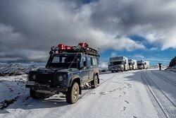 Primer día que bajamos al Lago Deseado aun con restos de nieve, un extraordinario viaje en Tierra del Fuego