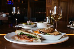 Johnny's Pick Two - Crusted Goat Cheese Salad and Clubhouse BLT B